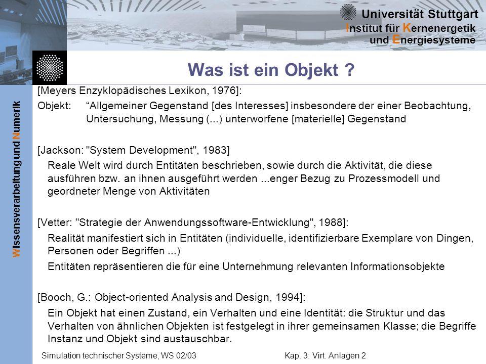 Was ist ein Objekt [Meyers Enzyklopädisches Lexikon, 1976]: